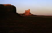 Color_image Posters - Monument Valley Mitten with Butte Poster by John Brink
