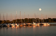 Randall Branham - Moon rises over the Marina