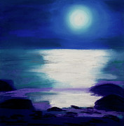 Abstract Landscape Pastels - Moonlight Sonata by Diana Tripp
