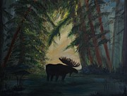 Cabin Wall Originals - Moose Pond Hideout by Leslie Allen