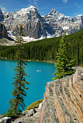 Moraine Lake Print by Brenda Yamen