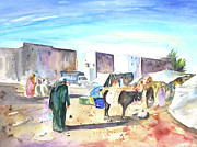 Essaouira Paintings - Morrocan Market 05 by Miki De Goodaboom