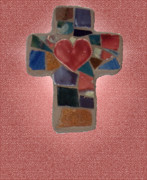 Anne Cameron Cutri - Mosaic Heart Cross