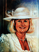 Ontario Portrait Artist Paintings - Mother of the Bride by Hanne Lore Koehler