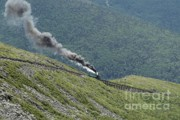Presidential Photo Framed Prints - Mount Washington Cog Railroad in New Hampshire USA Framed Print by Erin Paul Donovan