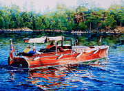 Summer Sports Art - Muskoka Woody by Hanne Lore Koehler