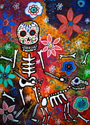Dia De Los Muertos Framed Prints - My Bestfriend Framed Print by Pristine Cartera Turkus
