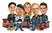Caricatures Art - Mythbusters by Art