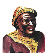 David Drawings - Mzilikazi by Emmanuel Baliyanga