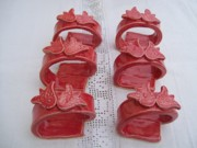 Dinner Ceramics - Napkin rings tulips by Monika Hood