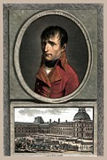Leaders Mixed Media Framed Prints - Napoleon Bonaparte And Troop Review Framed Print by War Is Hell Store