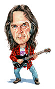 Caricatures Acrylic Prints - Neil Young Acrylic Print by Art