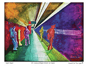 Subway Mixed Media - Night People by Kenneth De Tore