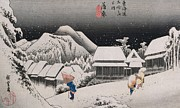 Hiroshige - Night Snow