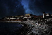 Wingsdomain Art and Photography - Nightfall Over Hard Time - San Quentin...
