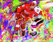 Hockey Paintings - Niklas Kornwall by Donald Pavlica