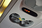 Air Conditioner Prints - No smoking signs in airplane Print by Sami Sarkis