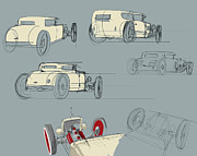 Engine Drawings - No.12 Variations by Jeremy Lacy