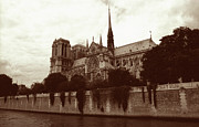 Architecture Greeting Cards Prints - Notre Dame Print by Kathy Yates