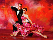 Ballroom Painting Posters - O  So Pretty Poster by Paint The Floor