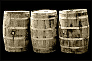 Wine Barrel Photos - Oak Barrel Sepia by LeeAnn McLaneGoetz McLaneGoetzStudioLLCcom