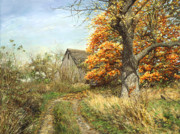Original Oil  Doug Kreuger Paintings - October Glory by Doug Kreuger