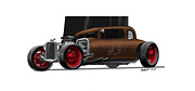 Old Car Metal Prints - OG Hot Rod Metal Print by Jeremy Lacy