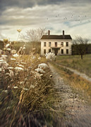 Sandra Cunningham - Old abandoned house with country path
