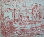 Roads Pastels Posters - Old Farm House Poster by Bill Joseph  Markowski