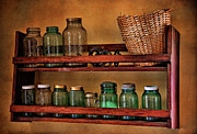 Mason Jars Prints - Old Jars Print by Lana Trussell