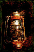 Orange Digital Art Originals - Old Lantern by Li   van Saathoff