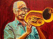 New Orleans Oil Paintings - Old Man Fred by Andrew Hench