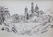 Monks Drawings - Old Mission by Bill Joseph  Markowski