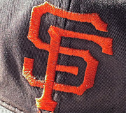 Baseball Greeting Cards Prints - Old San Francisco Giants Cap Print by Bill Owen