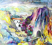 Townscapes Paintings - On The Way To Cazorla 01 by Miki De Goodaboom