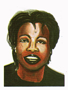 Award Drawings Prints - Oprah Winfrey 02 Print by Emmanuel Baliyanga