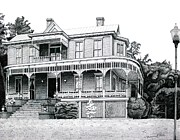 Historic Home Drawings Metal Prints - Orange Terrace Metal Print by Nathaniel Price
