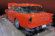 Grand National Roadster Show Posters - Orange Wagon Poster by Bill Dutting