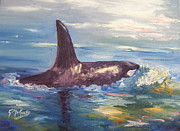 Impressionism Originals - Orca by Gayle McGinty