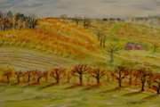 Orchards Painting Prints - Orchards - Autumn Print by Collette Hurst