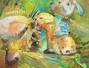Otters Originals - Otter Totem by Susan Cafarelli Burke
