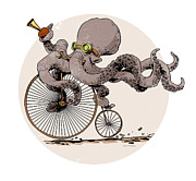 Steampunk Posters - Ottos Sweet Ride Poster by Brian Kesinger