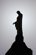 Catholic Framed Prints - Our Lady of the Mountain Silhouette Framed Print by Susan Isakson