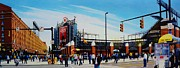 Yards Painting Framed Prints - Outside Camden Yards Framed Print by T Kolendera