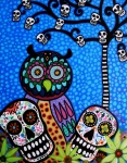Pristine Cartera Turkus - Owl And Sugar Day Of The Dead