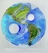 Science Fiction Glass Art Originals - Ozone by Michelle Ferry