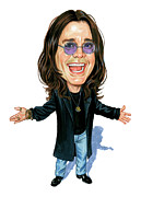 Vocalist Metal Prints - Ozzy Osbourne Metal Print by Art  