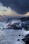 Dave Fleetham Photo Posters - Pacific Lava Flow Poster by Dave Fleetham - Printscapes