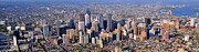 Philly Skyline Art - Panoramic Philly Skyline Aerial Photograph by Duncan Pearson