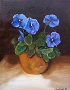 Susan Dehlinger - Pansies In Terracotta